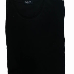 100% Cotton Black Muscle Fit Round Neck T-Shirt by Raymon KES 2000