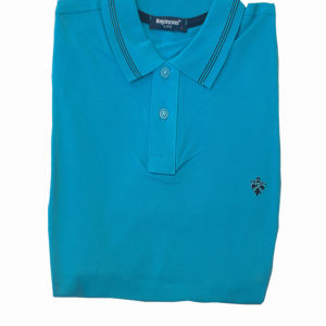 100% Cotton Cerulean Blue Polo T-Shirt by Raymons KES 2500