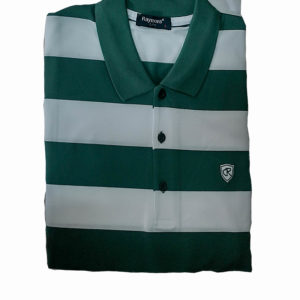 100% Cotton Green and White Stripes Polo T-Shirt by Raymons KES 2500
