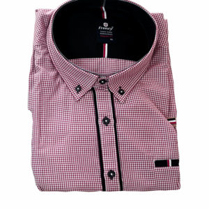 100% Cotton Red and White Checked Shirt by Polo Frenzy KES 2500