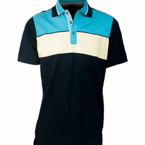 Black Polo shirt with light blue and white detail Kes 2,500
