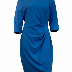 Blue formal dress with front side ruffles Kes 4,500