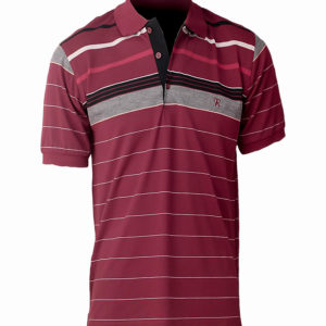 Burgundy polo shirt with stripes Kes 2,500