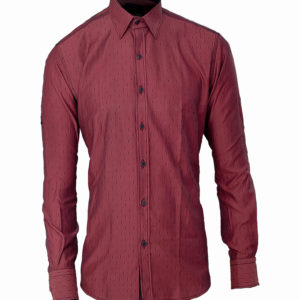 Burgundy shirt with broken stripes detail Kes 2,500