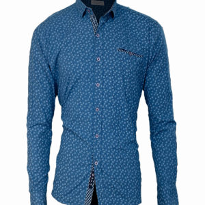 Light blue casual shirt with eyelet print details Kes 2,500