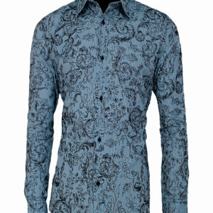 Light blue floral print shirt Kes 2,500