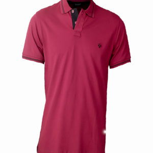 Pink Raymons polo shirt with black stripe on colar Kes 2,500