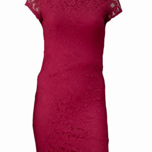 Red cap- sleeved lace dress Kes 4,500